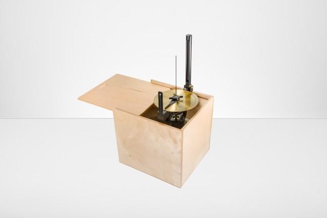 Holzkasten für Peilscheibe